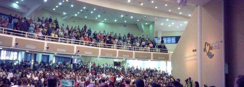 Cerca de 3.500 líderes de igrejas reunidos na Igreja Batista das Amoreiras, em Campinas, para a Escola Profética.