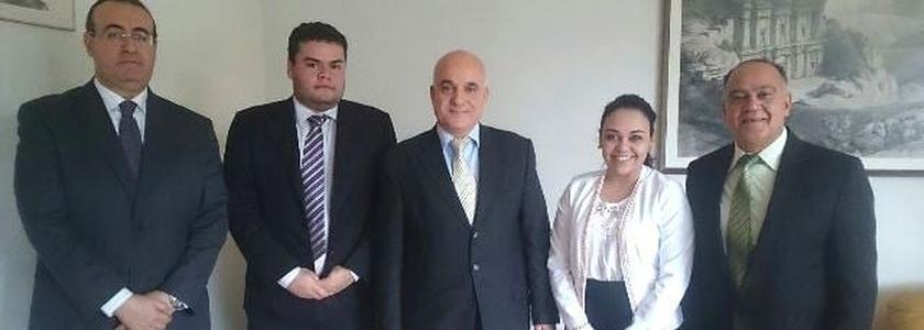 Embaixador da Jordânia recebe representantes da ANAJURE e da Frente Parlamentar Mista de para Refugiados e Ajuda Humanitária