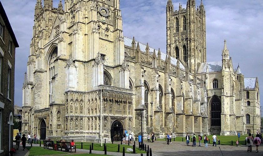 Catedral de Canterburry, na Inglaterra - um dos principais templos da Igreja da Inglaterra (anglicana).