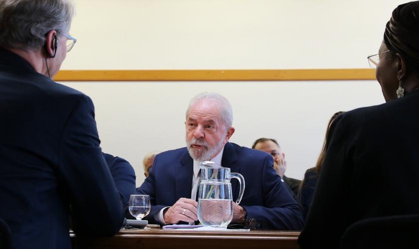 O ex-presidente Lula no Conselho Mundial de Igrejas em Genebra, na Suíça. (Foto: Ivars Kupcis/WCC)