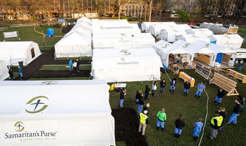 O hospital de campanha da Samaritan's Purse está desmontando suas instalações que estavam montadas no Central Park, em Nova York desde o dia 1º de abril. (Foto: Samaritan's Purse)