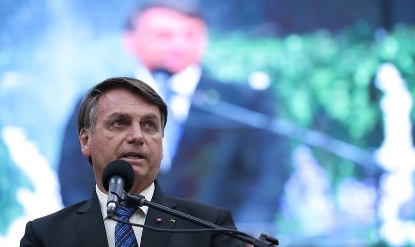 Presidente Jair Bolsonaro em culto de aniversário do pastor Wellington Bezerra da Costa. (Foto: Marcos Corrêa/PR)