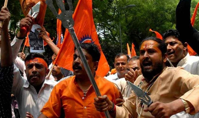 O extremismo hindu tem sido de grande ameaça para cristãos e outras minorias religiosas na Índia. (Foto: WaqtNews.TV)