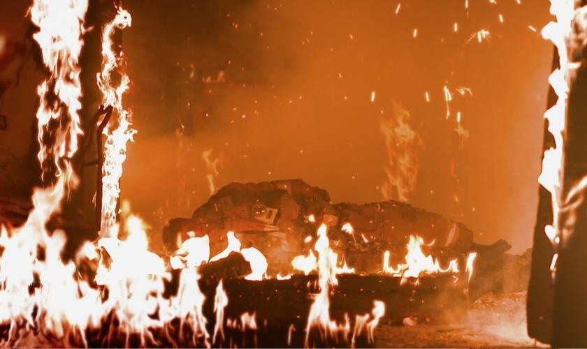 Cenas do filme Heaven, que contam a história de Cheyane Caldwell. (Foto: Associação Evangelística Billy Graham)