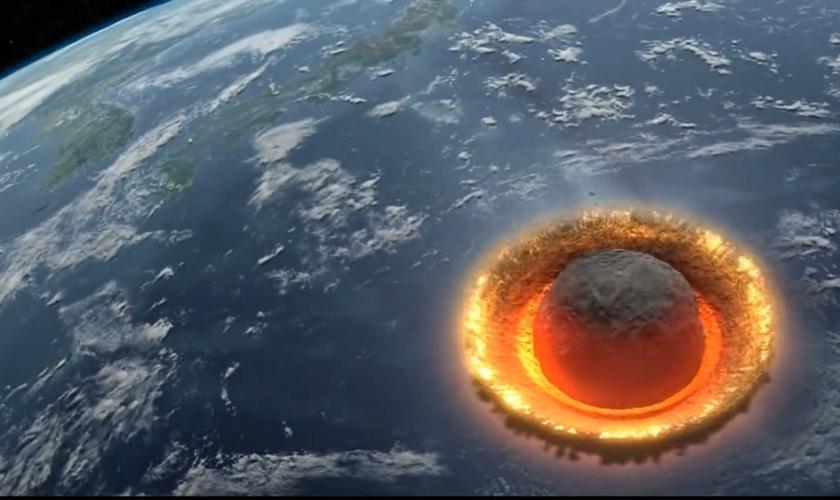 A possibilidade do asteroide é citada em um vídeo de simulação do Discovery Channel.