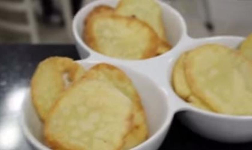 Batatas Pringles caseira