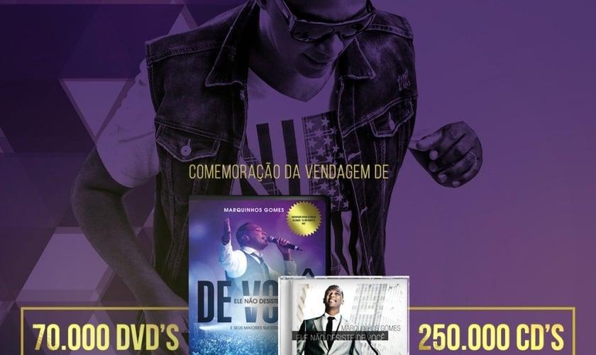 """Marquinhos Gomes celebra sucesso do CD """"Ele não desiste de você"""""""