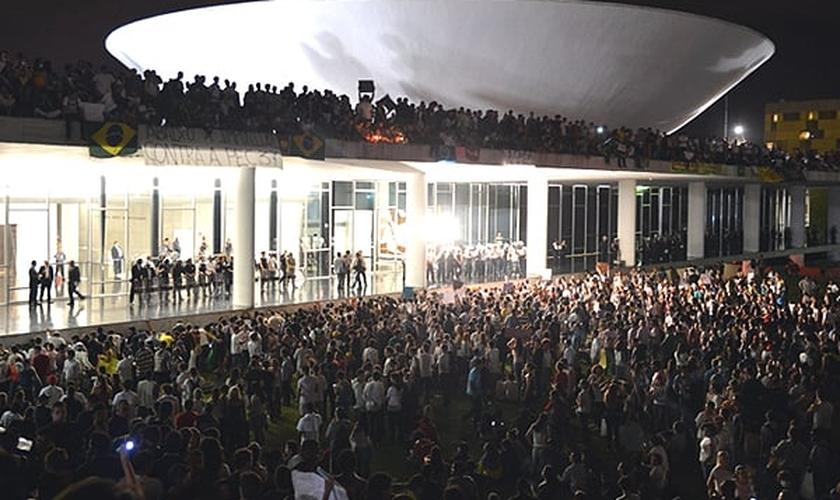 protesto em Brasilia