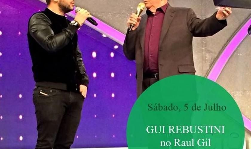 Confira como foi a participação de Gui Rebustini no Programa Raul Gil