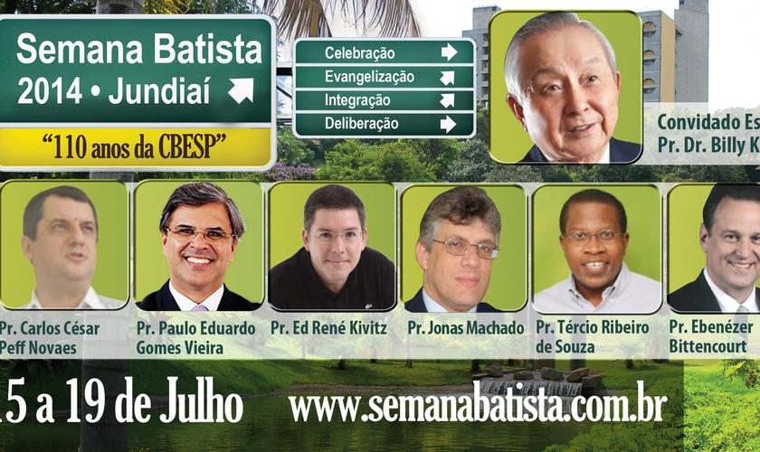 Batistas do Estado de São Paulo comemoram 110 anos em Jundiaí