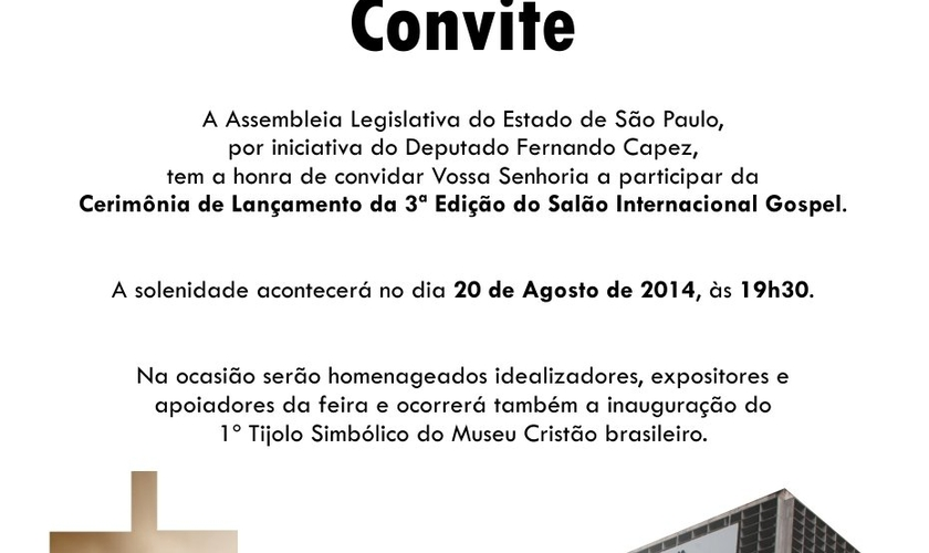III Salão Internacional Gospel será homenageado na Assembleia Legislativa de São Paulo