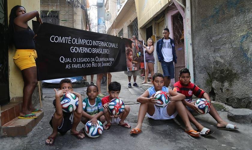 Rio de Paz _ protesto Olimpíada