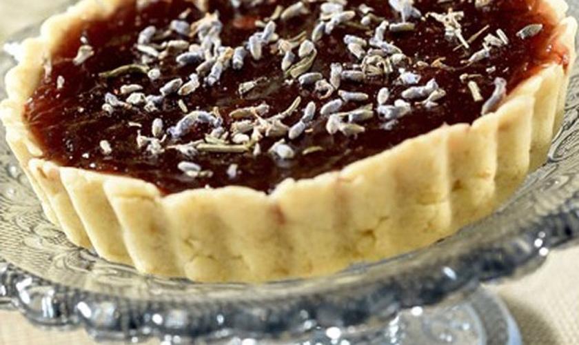 Crostata de geleia de morango orgânica