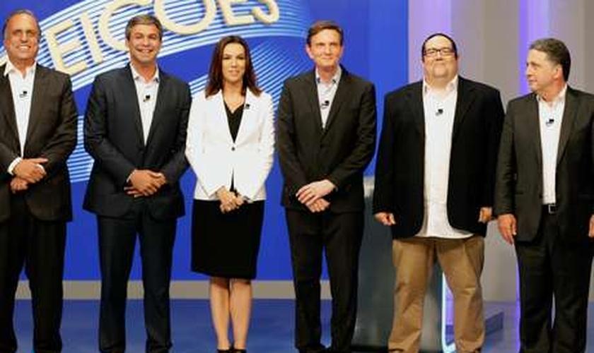 Debate ocorreu na noite desta terça, nos estúdios da TV Globo no Rio