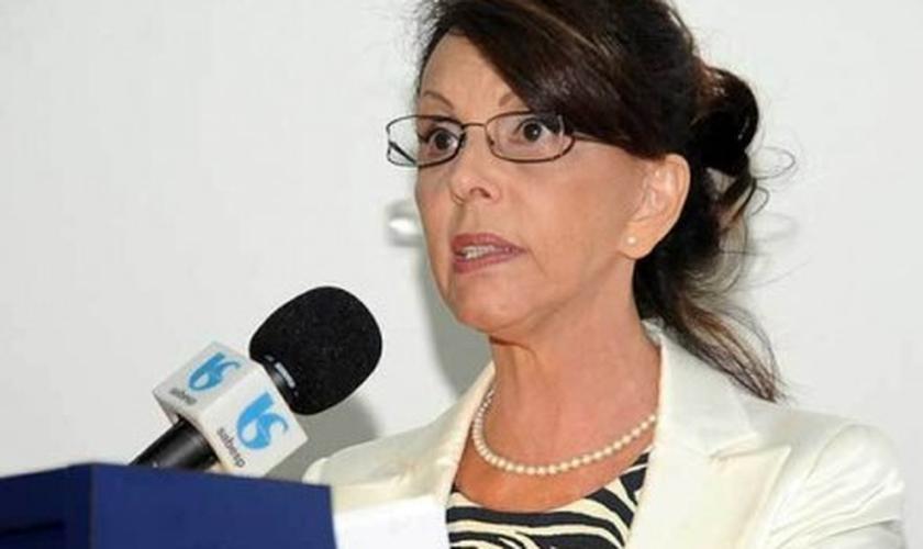 A presidente da Sabesp, Dilma Pena, que prestou esclarecimentos nesta quarta na CPI da Sabesp na Câmara de SP