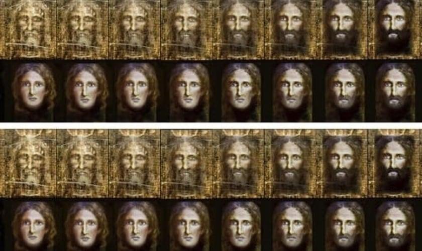 """Imagem divulgada pela polícia da Itália mostra a """"reconstrução"""" do rosto de Jesus Cristo quando criança, feita a partir do Santo Sudário"""