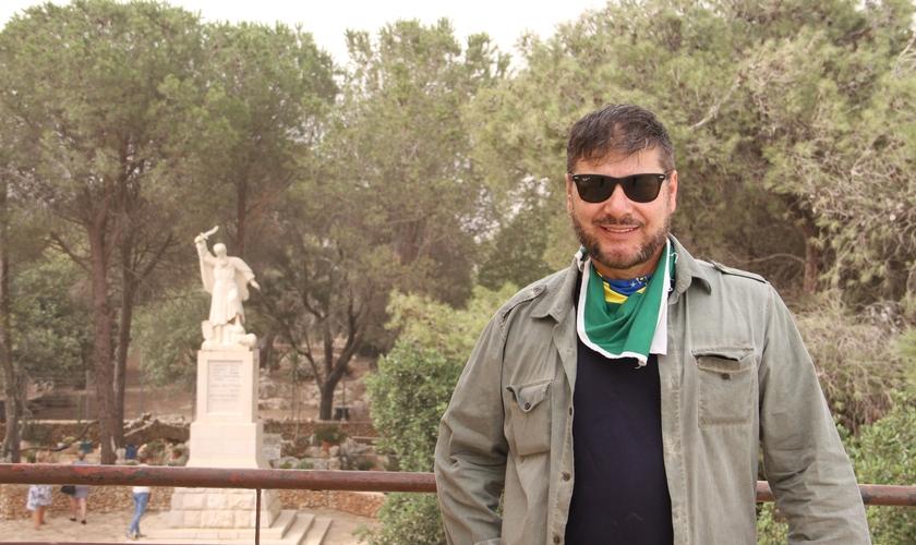 Ap. Joel Engel no Monte Carmelo, em Israel. (Foto: Guiame/ Marcos Corrêa)