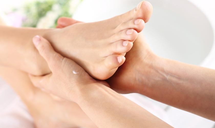 massagem para os pés