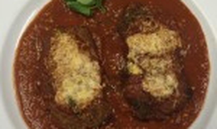 Bife à milanesa parmegiana