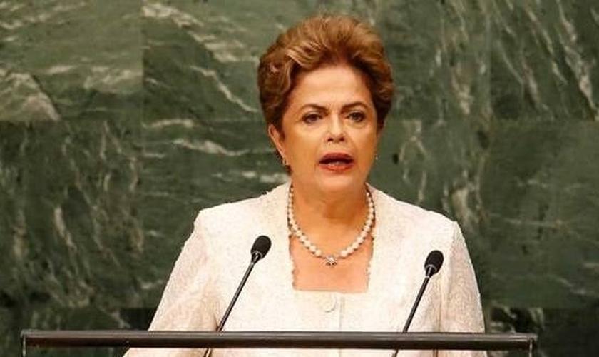 Dilma em discurso na ONU