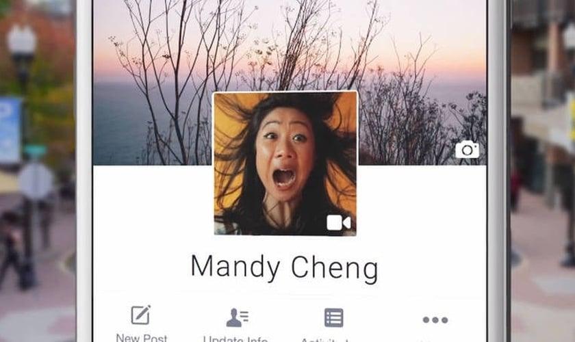 vídeo no perfil do Facebook