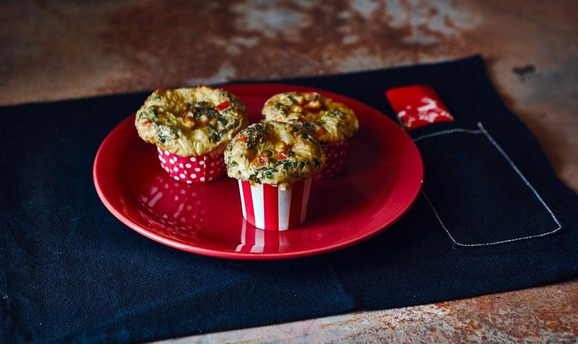 Muffim salgado de tapioca com legumes. (Foto: Divulgação)