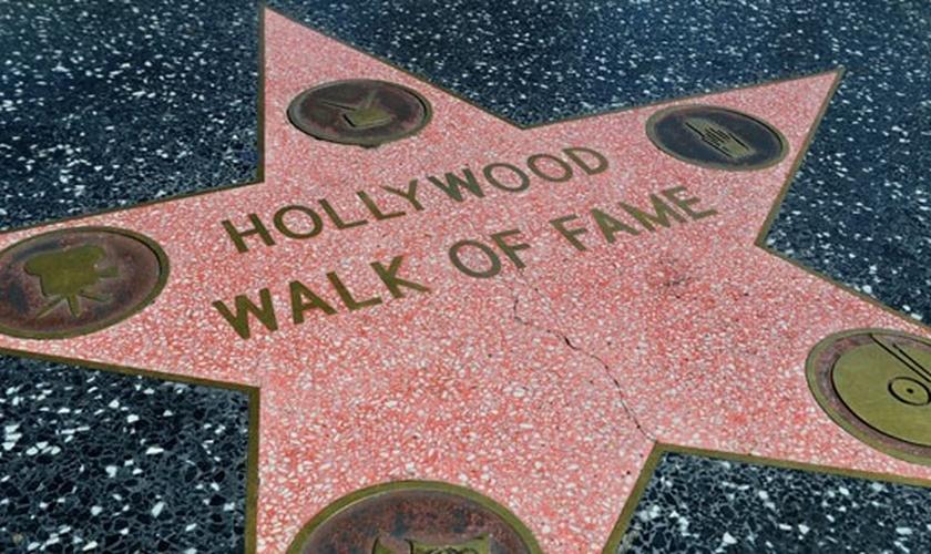 Calçada da fama - Hollywood. (Foto: Conta Mais)
