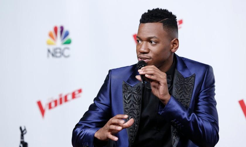 """Chris Blue é ministro de louvor e foi o vencedor da 12ª temporada do """"The Voice"""" USA. (Foto: NBC)"""