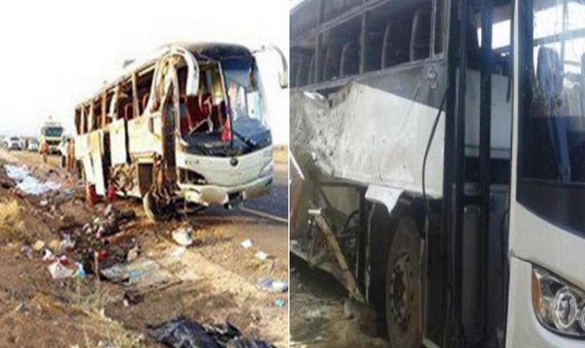 O ataque segue uma série de bombardeios do grupo terrorista Estado Islâmico contra a minoria copta do Egito. (Foto: Reprodução/Twitter).