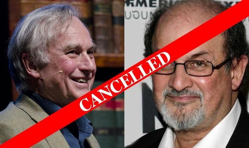 Richard Dawkins (esquerda) e Salmon Rushdie (direita) são alguns dos principais palestrantes que foram convidados para a Convenção, antes de seu cancelamento. (Foto:
