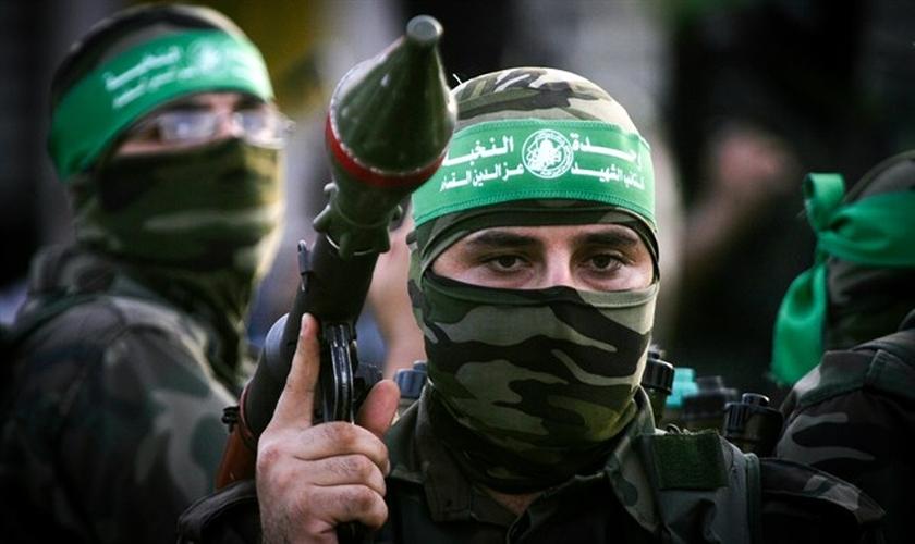 Terroristas do Hamas. (Foto: Arutz Sheva)
