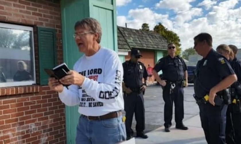 "Calvin Zastrow foi preso por supostamente estar ""perturbando a paz"". (Foto: AFLC)."