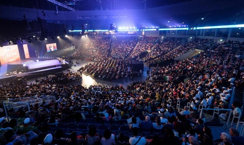 Milhares de cristãos se reuniram na 38ª Festa Anual dos Tabernáculos da ICEJ. (Foto: CBN News/Jonathan Goff)