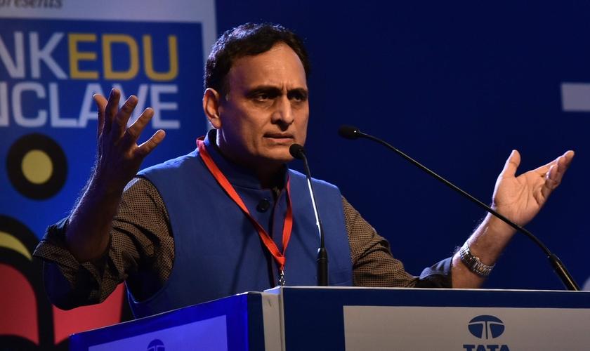 Rakesh Sinha é fundador da Rashtriya Swayamsevak Sangh (RSS), uma organização nacionalista hindu. (Foto: Reprodução)
