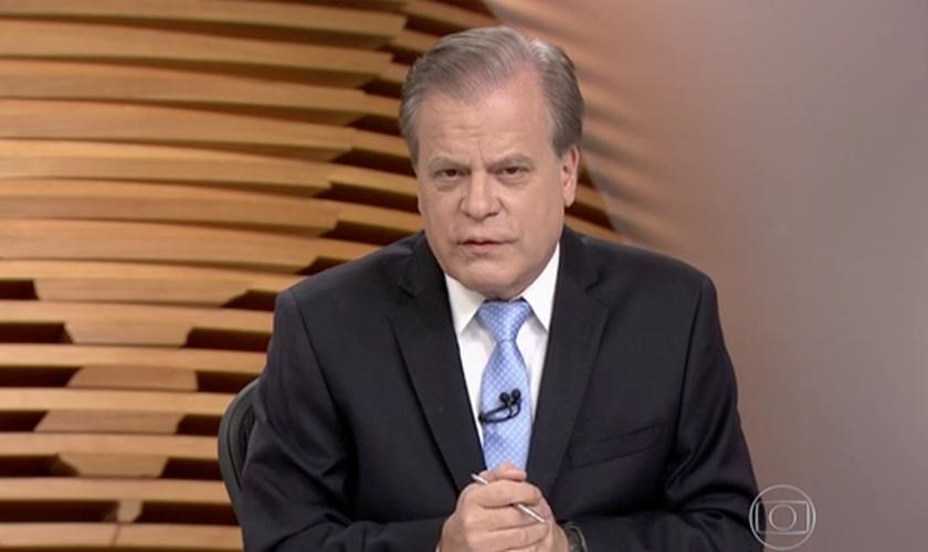Chico Pinheiro apresenta o jornal 'Bom Dia Brasil', na rede Globo. (Imagem: Reprodução)