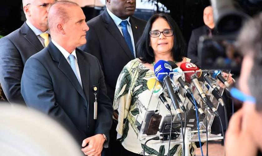 Damares Alves fala sobre ações à frente do Ministério da Mulher, Família e Direitos Humanos (Foto: Rafael Carvalho/Governo de Transição)