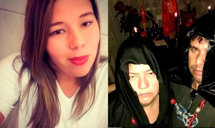 A polícia suspeita de que a jovem Atyla Arruda Barbosa (esquerda) tenha sido morta pelo casal Sérgio e Simone (direita) em um ritual satânico. (Foto: Reprodução)