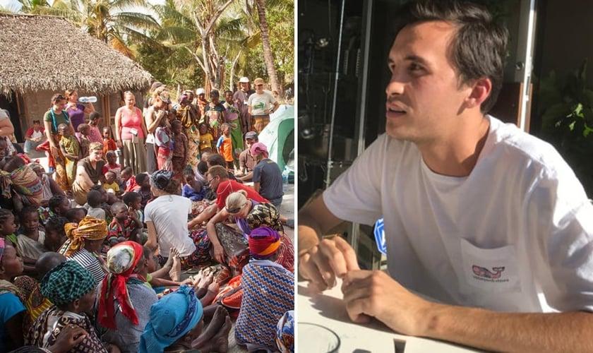 Taylor Martin e Harvest School, em Moçambique. (Foto: Reprodução/God Reports)