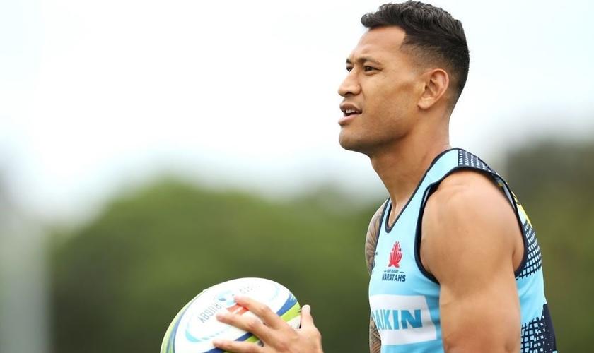 O jogador da União de Rugby, Israel Folau, foi demitido por manifestar suas posições religiosas nas mídias sociais. (Foto: Reprodução/Getty)