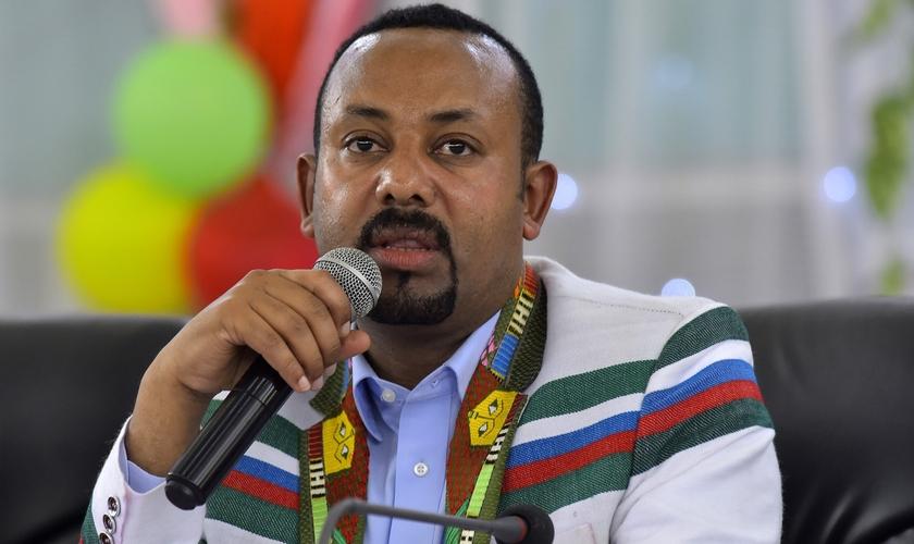 Abiy Ahmed Ali em foto de 15 de setembro deste ano. (Foto: Reprodução/Michael Teweld)