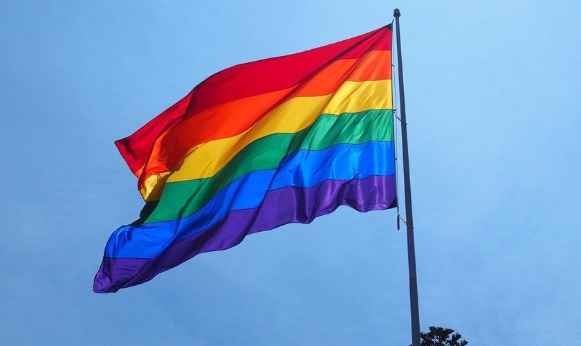 Bandeira usada como símbolo do movimento LGBT. (Foto: Nippon)