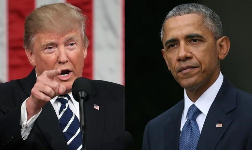 Trump e Obama em lados opostos também sobre adoção de crianças. (Foto: Reprodução/CNN)