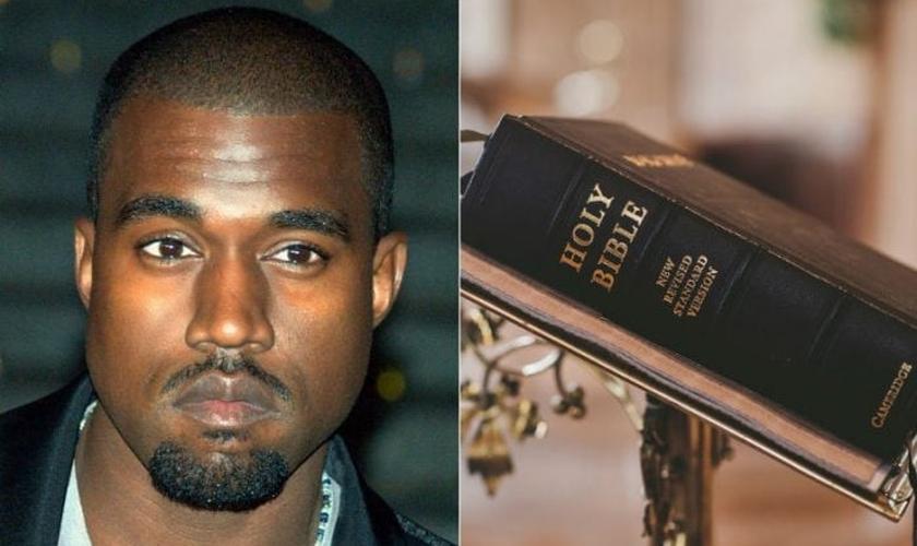 O testemunho de Kanye West (esquerda) tem elevado de maneira notável as buscas por assuntos sobre Jesus e a Bíblia. (Foto: ChurchPop)