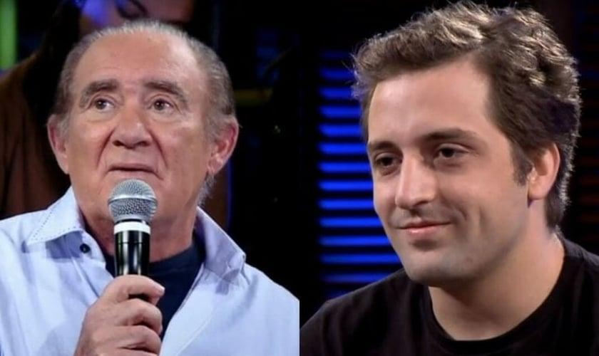 Os humoristas Renato Aragão e Gregório Duvivier. (Foto: Reprodução/YouTube)