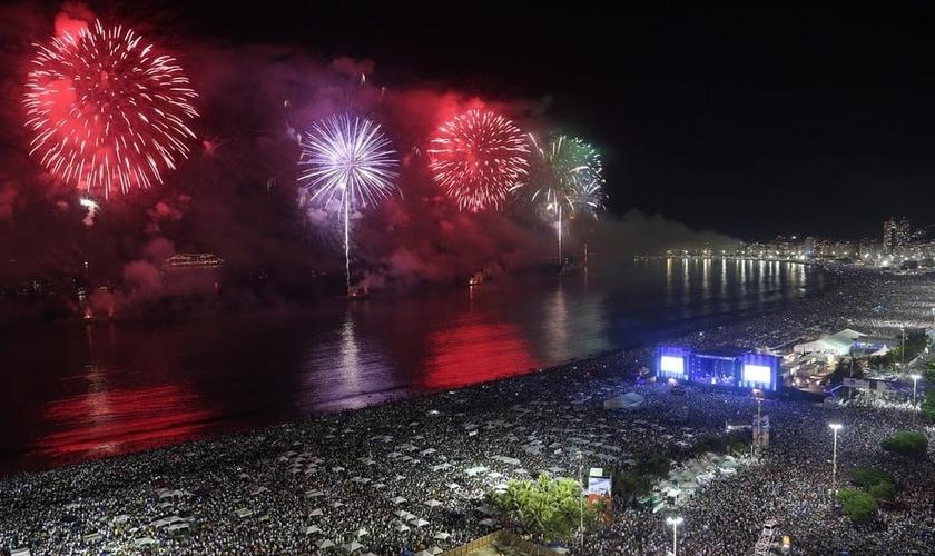 Réveillon no Rio de Janeiro espera contar com com 2,8 milhões de pessoas.. (Foto: Fernando Maia/Riotur)