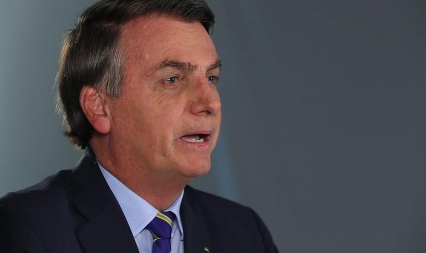 Presidente Jair Bolsonaro durante pronunciamento em rede nacional. (Foto: Isac Nóbrega/PR)