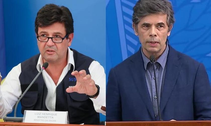 Luiz Henrique Mandetta foi substituído pelo oncologista Nelson Teich no Ministério da Saúde. (Foto: Isac Nóbrega/PR)