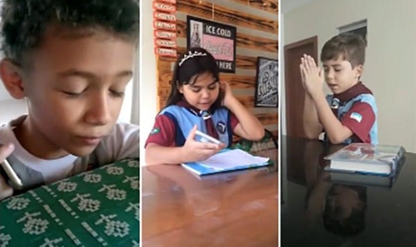 As crianças ligaram para levar uma palavra de fé às pessoas de sua comunidade. (Foto: Reprodução/Notícias Adventistas)