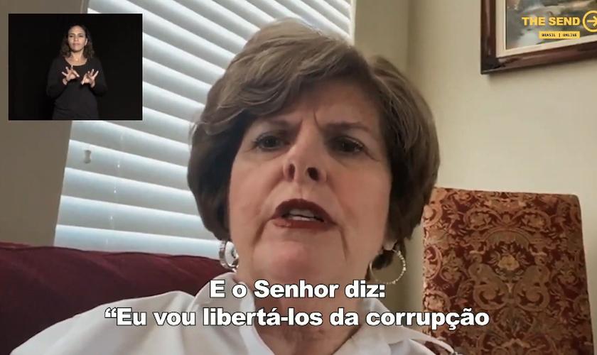 Cindy Jacobs durante participação no The Send Brasil online. (Foto: Reprodução/YouTube)