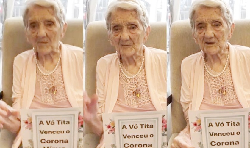 Dona Tita, de 101 anos, foi curada da Covid-19. (Foto: Arquivo pessoal)
